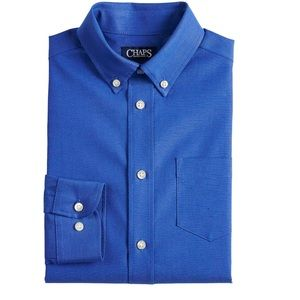 Chaps Long Sleeve Stretch Oxford